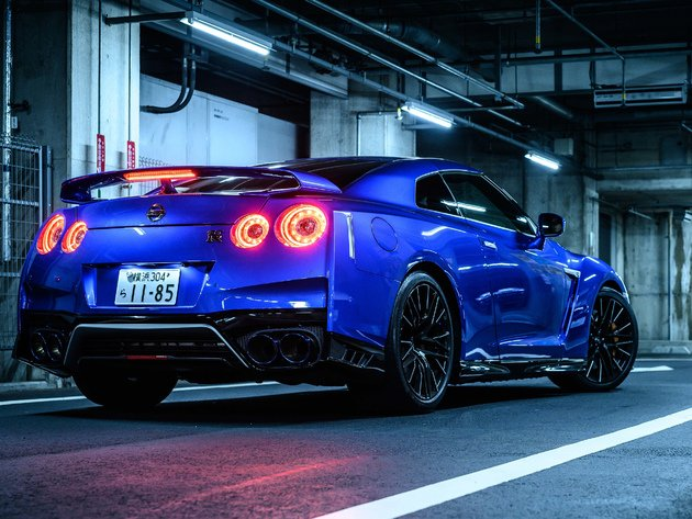 Wallpaper nissan, nissan gtr, garage, blue car