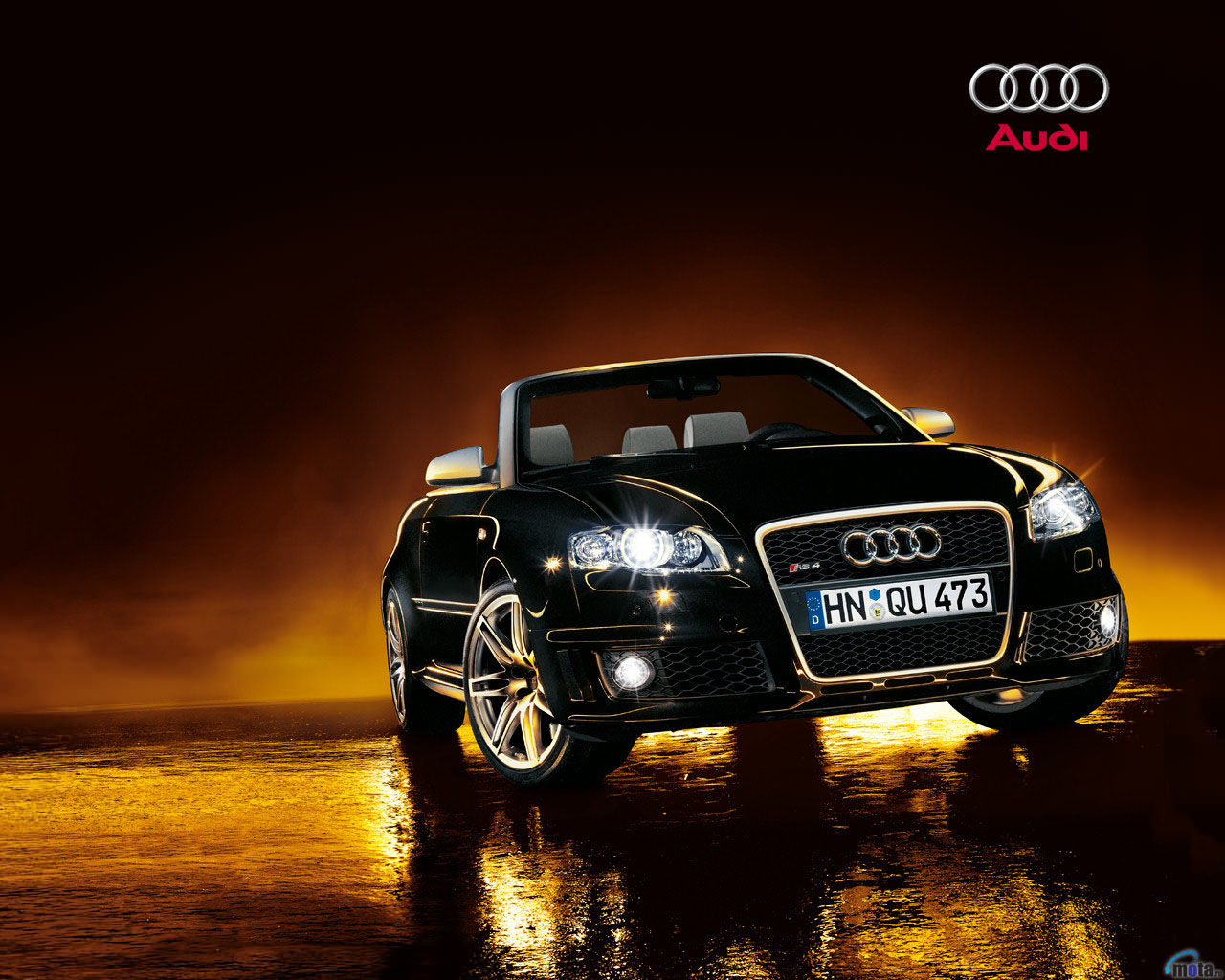 Download Wallpaper Black Audi Convertible Cabriolet A4