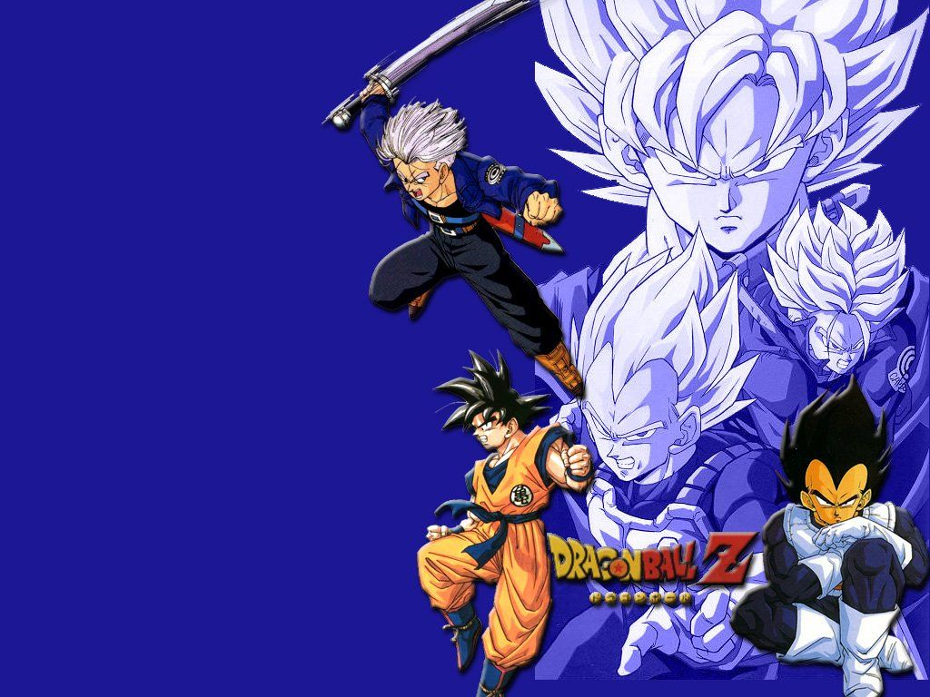 Download Wallpaper Blue Sword Dragon Ball Z 1024x768