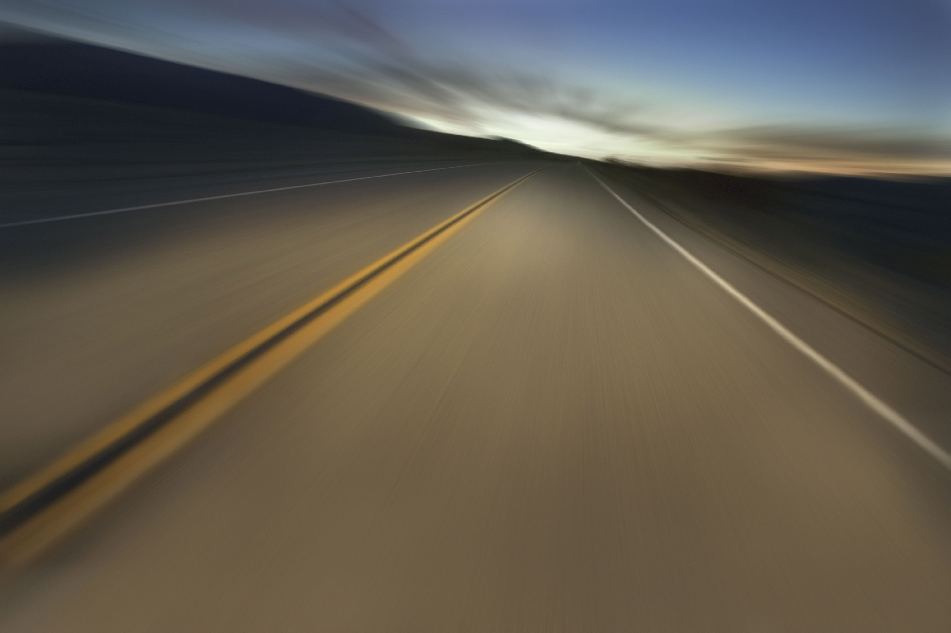 Download Wallpaper Evening Road Speed Highway 4010x2668 Foreboding Road