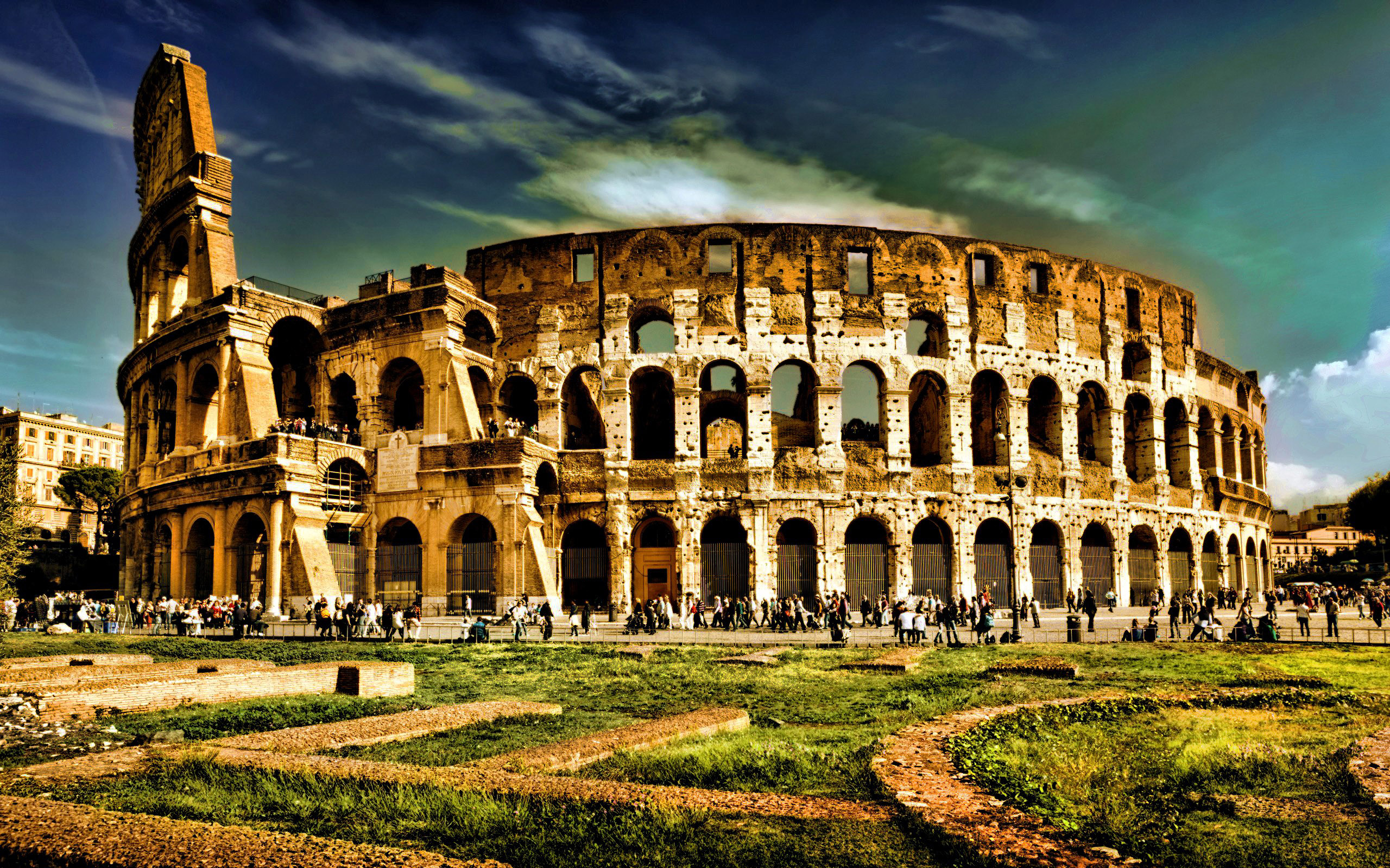 Download Wallpaper Colosseum Rome Italy Architecture 2560x1600 The Famous