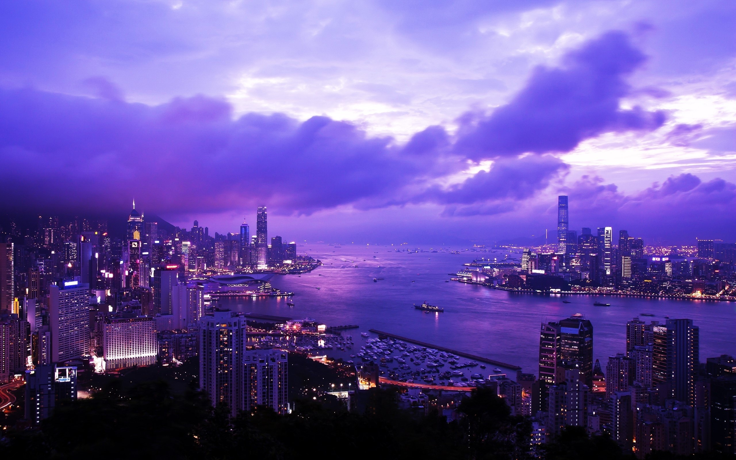 Victoria Harbor, Hong Kong, China без смс