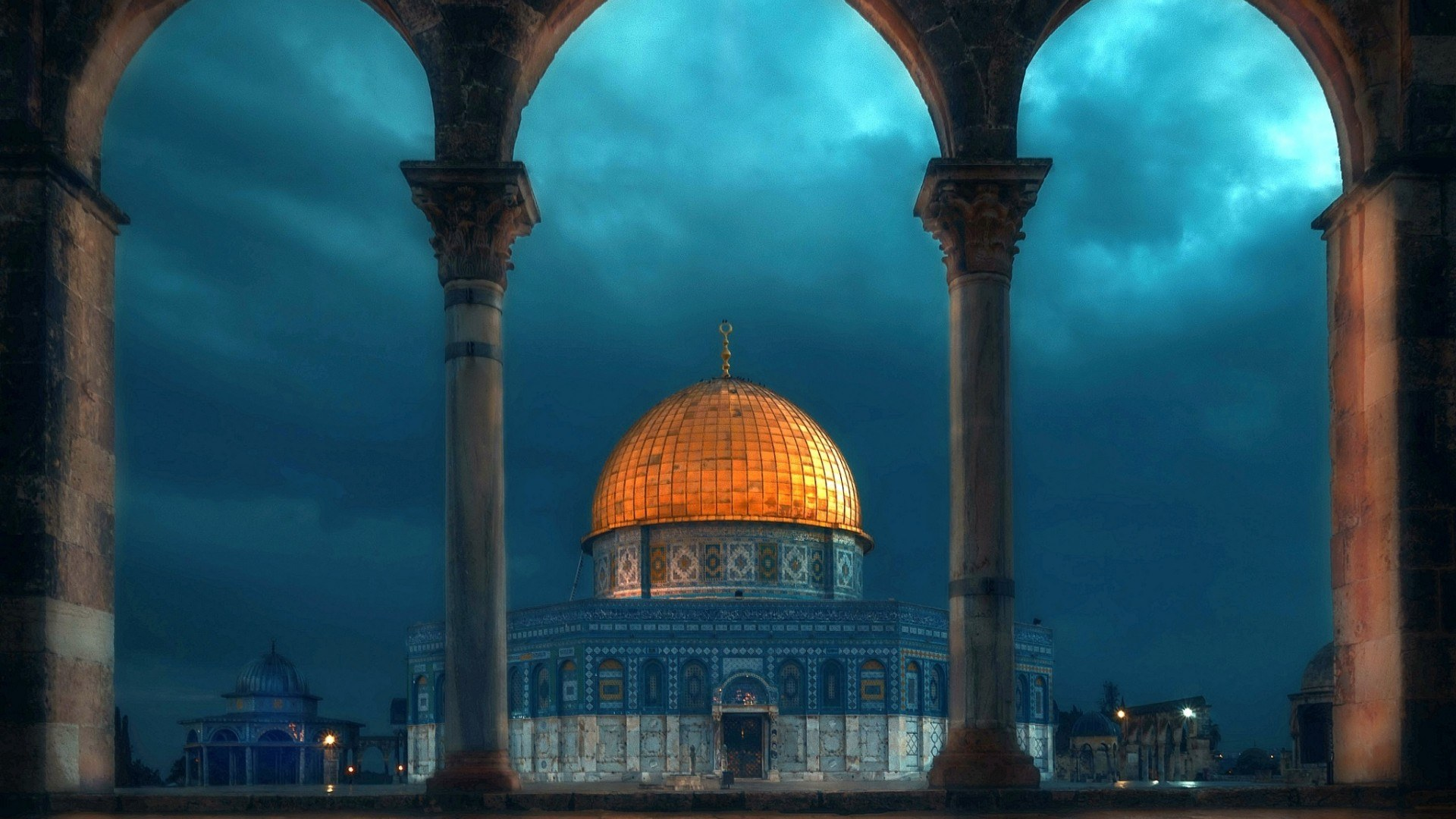 Download Wallpaper Arch The Dome Mosque Israel Jerusalem Sky Of